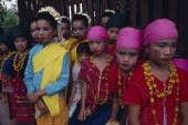 Group of children in traditional dance costume.