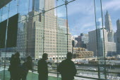 People looking over Ground Zero during reconstruction of the World Trade Center  Centre WTC 9/11