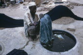 Man working in the indigo dye pits
