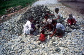 Enforced child labour along the road to Pegu from Taukkyan.