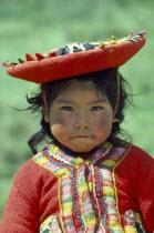 Portrait of Quechua girl.
