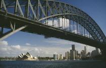 View through Harbour Bridge toward the Opera House
