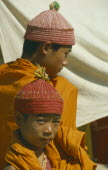 Two novice Theravada Buddhist monks.
