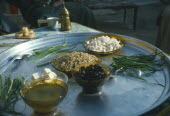 Local food served in small village hear Ebla on the road between Aleppo and Hama. Halab
