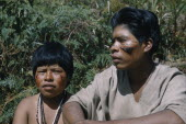 Gabriel and his wife with bright red  ochote  facial paint extracted from ground ochote seeds and black fungal facial paint. Indigenous TribesAmerican Colombian South America Columbia Hispanic Indeg...