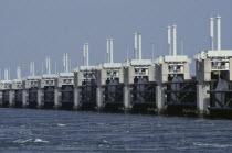 Oosterschelde Dam  North Sea. Netherlands