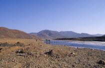 Drought affected landscape following severe flooding.