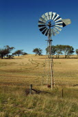 Wind powered water pump outside Perth.Water  Agriculture Antipodean Aussie Australian Oceania Oz