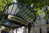 Montmartre Art Nouveau entrance to Abbesses Metro stationEuropean French Western Europe