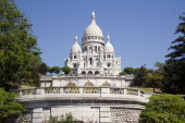 Montmartre The Church of Sacre Couer on the hilltopEuropean French Religion Western Europe
