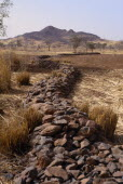 Bund  low rock walls built to prevent soil erosion by flash floods. Stones are placed along the contours on gentle slopes. Sometimes the bunds are reinforced by planting tough grasses along the lines....
