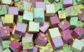 Mullti coloured nougat for sale in a market in Shoreham-by-Sea.