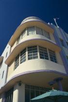 South Beach. Art Deco building