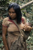 Young Maku mother breast-feeding baby carried in sling across her body.indigenous tribe indian nomadic American Babies Colombian Columbia Hispanic Indegent Kids Latin America Latino Mum South America...
