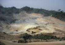 Open cast miningin the Ashante Goldfields.