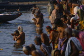 Sivaratri Festival crowds praying and bathing in the River Ganges.Shiva Ratri Asia Asian Bharat Inde Indian Intiya Religion Religious