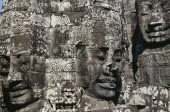 The Bayon.  Detail of huge faces thought to depict Jayavarman VII.