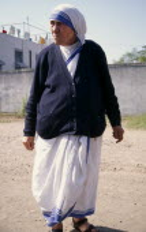 Mother TeresaAsia Asian Bharat Inde Indian Intiya Kolkata Mum One individual Solo Lone Solitary Religious