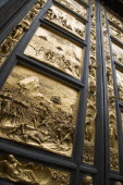 The 15th Century East Doors of the Baptistry of the Cathedral of Santa Maria del Fiore the Duomo. The panels are by the artist Lorenzo Ghilberti  and were dubbrd the Gate Of Paradise by MichelangeloE...