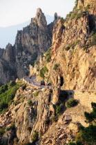 Les Calanche rock formations & coastal roadOporto French Western Europe European Oporto French Western Europe European