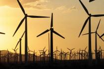 Windmills  San Gorgonio Pass  Palm Springs. Wind turbine electricity generators.JTPS American Destination Destinations North America Northern United States of America Ecology Entorno Environmental En...