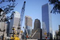 Financial District  World Trade Centre  construction site at Ground ZeroAmerican North AmericaArchitectureUrbanCityscapeNorth AmericanCityTowersTowerSkyscrapersSkyscraperCenterSeptember 11...