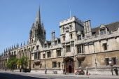 Brasenose College exterior in the High Street.Oxford  UK  High street  Brasenose  college  university  colleges  Oxbridge  building  stone  Europe  European  Oxfordshire  United Kingdom  England  Eng...
