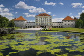 Germany, Bavaria, Munich, Nymphenburg Palace, The palace is surrounded by beautiful gardens.