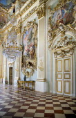 Germany, Bavaria, Munich, Nymphenburg Palace, Steinerner Saal, The Stone or Great Hall.