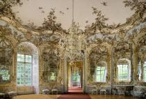 Germany, Bavaria, Munich, Nymphenburg Palace, Amalienburg, The Hall of Mirrors.