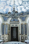 Germany, Bavaria, Munich, Nymphenburg Palace, The Pagodenburg, Elegant pavilion for royal relaxation, Over 2000 painted Dutch tiles decorate the interior walls.