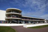 England, East Sussex, Bexhill on Sea, De La Warr Pavilion. Exterior of the Art Deco Gallery and Arts Centre.