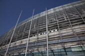 Ireland, County Dublin, Dublin City, Ballsbridge, Lansdowne Road, Aviva 50000 capacity all seater Football Stadium designed by Populus and Scott Tallon Walker. A concrete and steel structure with poly...
