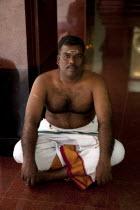 Malaysia, Kuala, Lumpur, Sri Mahamariamman Temple, Portrait of a Hindu religious man, Jln Tun HS Lee.