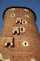 Poland, Krakow, Watch tower of Wawel Castle.