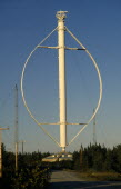 Canada, Quebec, Cap-Chat, Vertical axis windmill.