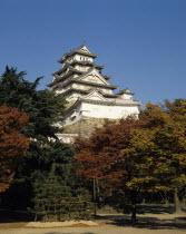 Japan, Honshu, Kansai Region, Himeji Castle.