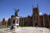 Ireland, Northern, Belfast, Queens Quarter, Queens University main building, designed by architect Charles Lanyon.