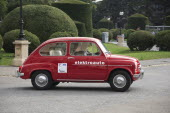 Austria, Vienna, Electric car based on old Fiat 500.
