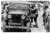 Bolivia, Santa Cruz, Vallegrande, CIA agent and Cuban exile Gustavo Villoldo climbing into a jeep in preparation of an early morning inspection of the Vallegrande airstrip. Monday 09 October 1967.