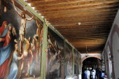 Mexico, Bajio, Zacatecas, Paintings of the Stations of the Cross in the Monastery Museum of Guadalupe.