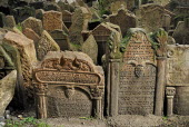 Czech Republic, Bohemia, Prague, Old Jewish Cemetery.