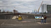Ireland, North, Belfast, Titanic Quarter, Thompson Graving Dry Dock where RMS Titanic was built.