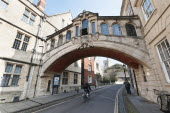 England, Oxfordshire, Oxford, The Bridge of Sighs, built 1913-1914 by Sir Thomas Jackson forms part of Hertford College.