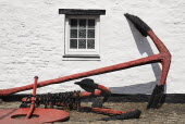 Ireland, county Cork, Kinsale, anchor displayed at the regional museum.