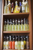 Italy, Lazio, Rome, Display of Limoncello.