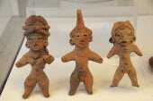 Mexico, Puebla, Cholula archaeological site museum, small clay figures.