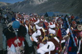 Peru, Cusco, Vilcanota Mountains, Ice festival of Qoyllur Riti, pre Colombian in origin but of Christian significance today with pilgrimage to place of Christs appearance after performing miracles loc...