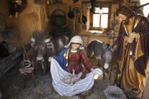 Spain, Canary, Island, Tenerife, El Monasterio, Nativity Tableau.