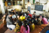 Bangladesh, Chittagong, Street children learning in a centre run by an NGO charity.